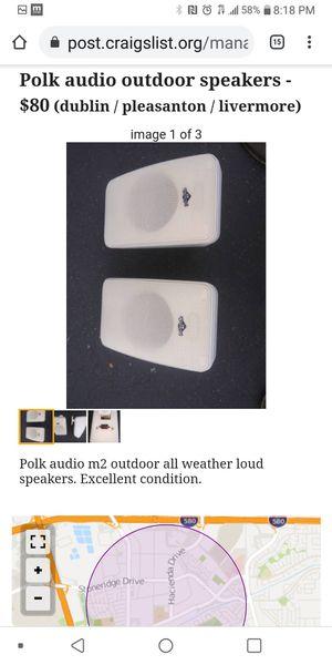 Polk audio outdoor speakers for Sale in Pleasanton, CA
