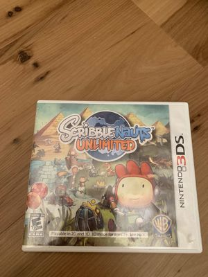 Scribblenauts unlimited for Nintendo Ds case/game/instructions for Sale in Painesville, OH