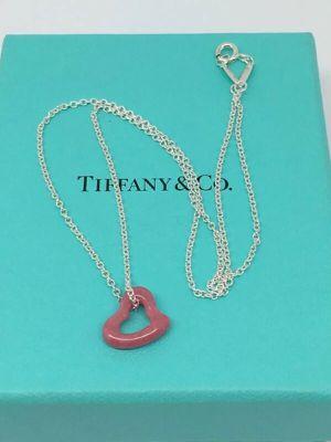 Authentic Tiffany & Co. Elsa Peretti Open HeartNecklace for Sale in Medina, OH