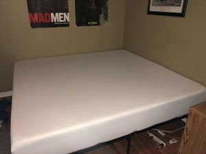 Tuft and Needle king sized memory foam mattress and bed frame for Sale in Overland Park, KS