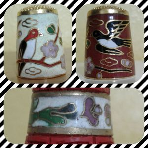 THIMBLE COLLECTIBLES - CLOISONNE @ $10 and $15 for Sale in Manteca, CA