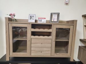 Melissa wine Cabinet, Dark Taupe for Sale in Huntington Beach, CA