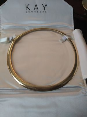 Omega 14kt gold necklace for Sale in Saginaw, MI