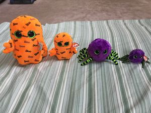 4 Ty Beanie Boos Halloween Plush for Sale in Elk Grove Village, IL