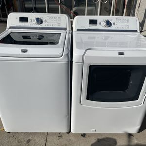 Maytag Bravos XL Heavy Duty Washer And Gas Dryer With Steam Cycles And Sensor Drying for Sale in Redlands, CA