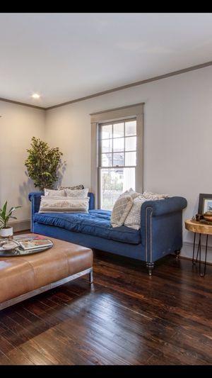 Beautiful Blue Sofa Chaise for Sale in Greensboro, NC