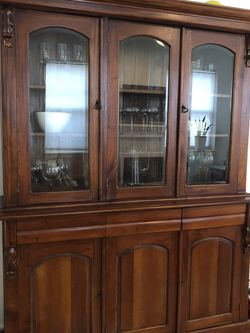 Solid Wood Dining Hutch for Sale in Portland,  OR