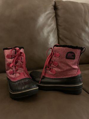 Sorel waterproof boots girls size 4 for Sale in Glendora, CA