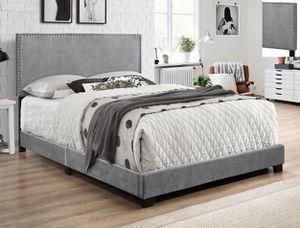 Queen gray velvet bed frame for Sale in Mission, TX