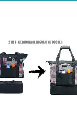 Beach Bag With Insulated Picnic Cooler for Sale in Los Angeles, CA