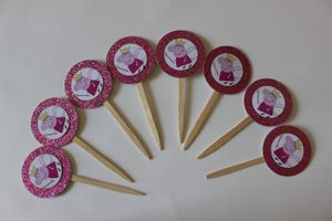 12 Peppa Pig Cupcake Toppers Birthday Party Valentine for Sale, used for sale  TWENTYNIN PLM, CA