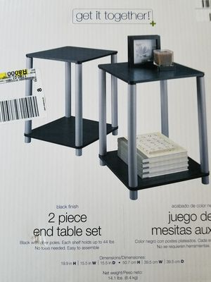 New in box end table set for Sale in Powhatan, VA