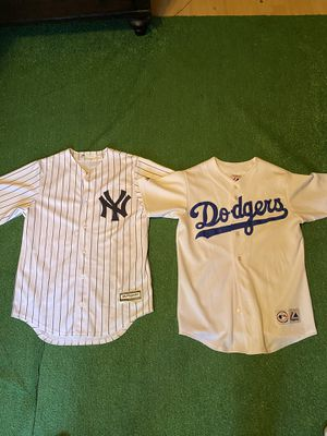 MLB majestic blanc baseball jerseys for Sale in Fort Worth, TX