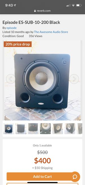Home theater subwoofer 200 watt for Sale in Moseley, VA