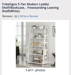 Tribesigns 5- tier modern ladder shelf/Bookcase brand new in the box for Sale in Corona, CA