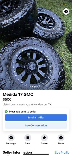 35 inch tires 17 inch rims for Sale in Troup, TX