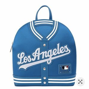 L.A Dodgers Loungefly Chenille Logo Jacket Mini Backpack for Sale in Whittier, CA