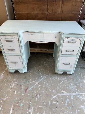 Coastal antique desk on casters for Sale in Palm Harbor, FL