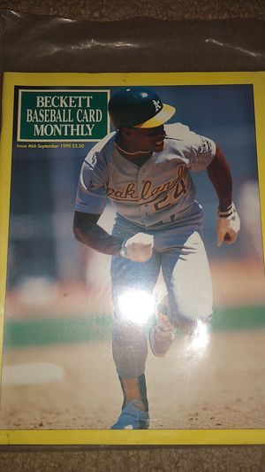 90 Rickey Henderson Beckett Baseball Card Monthly for Sale in Dallas, GA