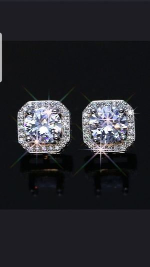 Sterling silver white sapphire earrings for Sale in Dundalk, MD