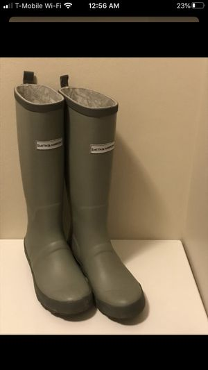 Tall Gray Rainboot + Bearpaw winter boot 7 for Sale in Naperville, IL