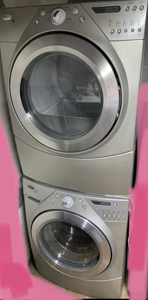 Silver Stackable Whirlpool Washer & Dryer Set for Sale in Woodstock, GA