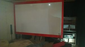 Must pick up Custom made projector screens this is a 130 inch for Sale in Monroe, MI