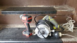Wet tile saw ryobi never been used Milwaukee bushless impact for Sale in East Chicago, IN