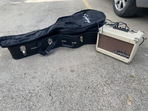 Guitar , Hard case , light windbreaker case , & AMP for Sale in Mission, TX