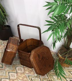 Chinese Lacquered Bamboo Three Tier Picnic Basket 🧺 for Sale in Boynton Beach,  FL