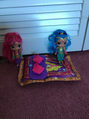 Shimmer and shine bundle dolls for Sale in Fort Myers, FL