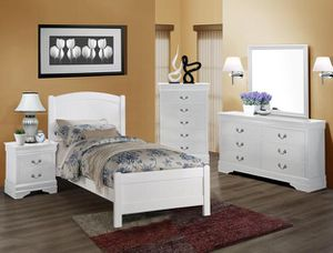 Twin size bed with 5 drawer chest only (NEW) for Sale in Fairfax, VA