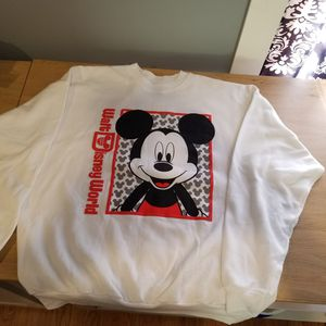 New XL Authentic Mickey Mouse Walt Disney World Sweatshirt for Sale in Tacoma, WA
