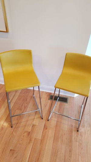 IKEA Leather Bar Stools Bernhard Collection Very Good Cond6 for Sale in Pittsburgh, PA
