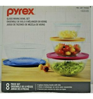 Pyrex glass mixing bowl set for Sale in Houston, TX