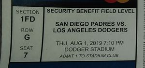 4 Dodgers Tix & Parking for Sale in Montebello, CA