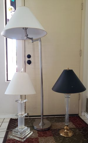 Floor lamp and Two Table Lamps for Sale in San Diego, CA