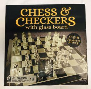 Checkers/Chess glass board #1665 for Sale in Maricopa, AZ