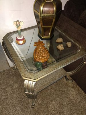 Glass coffee table and 2 end tables. for Sale in Fresno, CA