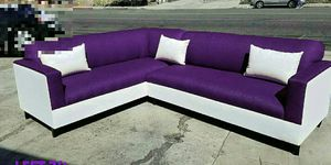 NEW 7X9FT PURPLE MICROFIBER SECTIONAL COUCHES for Sale in North Las Vegas, NV
