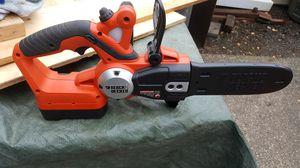 Black Decker 18 volt cordless chainsaw for Sale in Lynnwood, WA