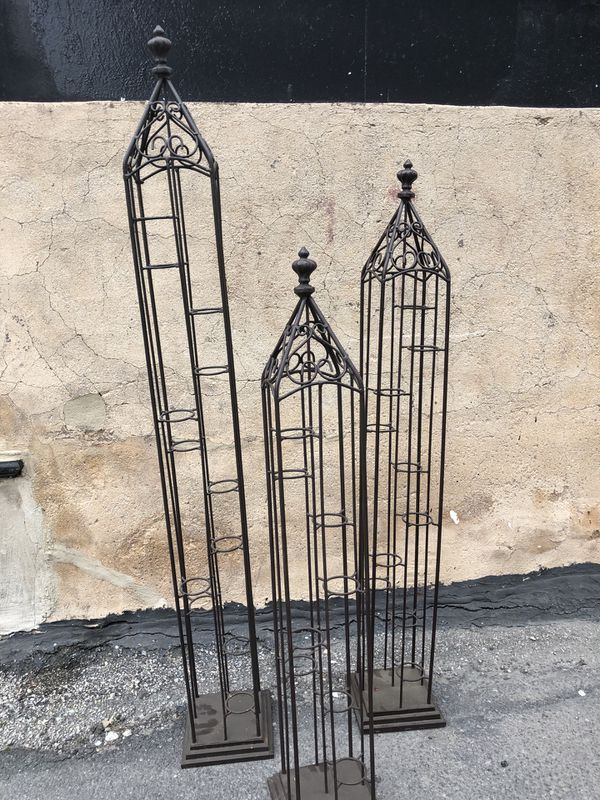 Rod Iron indoor/outdoor candle holder stands (see description for exact prices!)