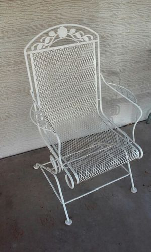Solid iron wrought iron outdoor patio furniture rocking chair for Sale in Glendale, AZ