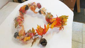 6' Artificial Pumkin Maple Leaf Fall Garland Wreath for Sale in Saint Robert, MO