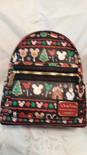 Disney Parks Christmas Food Icons Mini Backpack by Loungefly. for Sale in Celebration, FL