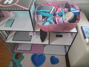 Lol doll house, accessories, 50 or more Lol dolls all included for Sale in Arnold, MD