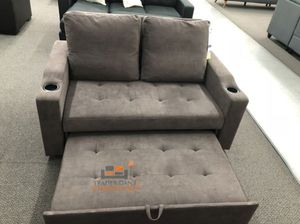 Brand New Cappuccino Color Linen Sleeper Sofa w/Cup Holders for Sale in Silver Spring, MD