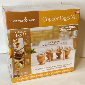 Copper Chef Copper Eggs XL With Non Stick Coating 4 XL Copper Easter Egg Makers for Sale in Gresham, OR