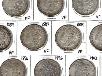 Lot Of 10 Old US Silver Dollars , High Grade Circulated for Sale in Dallas,  TX