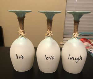 Candle holders/ live love laugh for Sale in Katy, TX